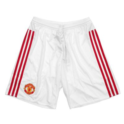 adidas Manchester United 2015/16 Mens Home Replica Jersey Short White - S