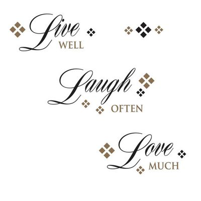 Live Laugh Love Wall Sticker Quotes