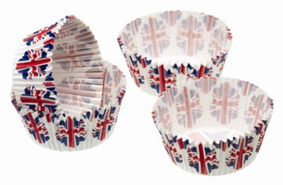 Sweetly Does It Pack of Eighty Union Flag Mini Cake Cases