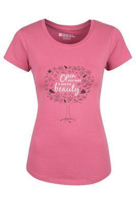 Mountain Warehouse Open Your Eyes Womens Cotton T-Shirt ( Size: 18 )
