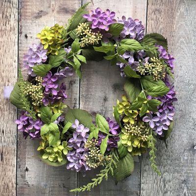 Artificial Hydrangea Wreath
