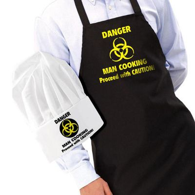 IGGI Danger Man Cooking Apron and Hat