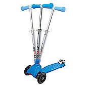Atom Folding Cruiser Three Wheel Scooter - Blue