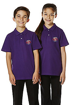Unisex Embroidered School Polo Shirt - Purple
