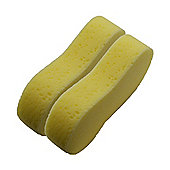 Large Yellow Multipurpose Car / Household Cleaning Sponge - Pack of 2