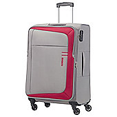 American Tourister HyperFlair 4 Wheel Grey/Red Medium Suitcase
