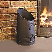 a'la Maison Fireside Fireplace Steel Coal Hod Vintage Metal