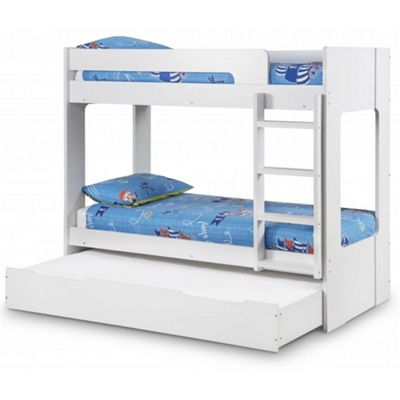 White Bunk Bed Including Under Bed/Storage Drawer Single - 3ft (90cm)