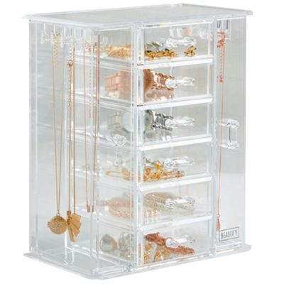 Buy Beautify Jewellery Organiser Amp Makeup Storage Box With
