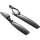 Acor Lightweight Plastic MTB Mudguard Set: Black.