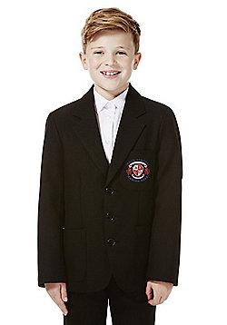 Boys Embroidered Blazer - Black