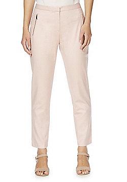 F&F Slim Fit Ankle Grazer Trousers - Blush Pink
