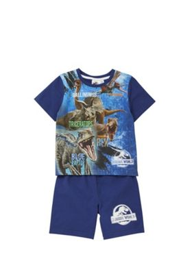 Jurassic World Glow In The Dark Pyjamas Blue 3-4 years