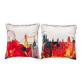 Skyline Design Extra Soft Luxury Velvet Twin Cushion Sets of Two
