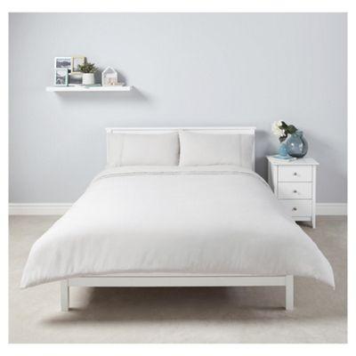 Tesco 100% Cotton Duvet Set King grey