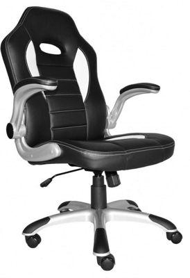 Alphason Tallegda Black and White Leather Executive Chair
