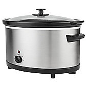 Tesco SCSS13 5.5L Electric Slow Cooker - Stainless Steel