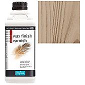 Polyvine Wax Finish Varnish - Medium Oak - 1 Litre