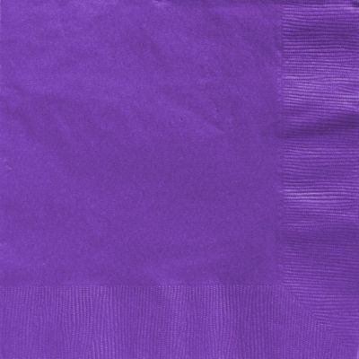Purple Dinner Napkins - 2ply Paper - 50 Pack