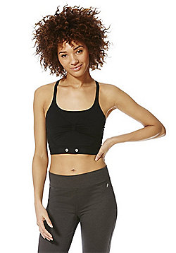 F&F Active Heart Rate Monitor Crop Top - Black