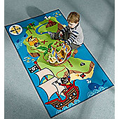 Pirate Map Rug 160 x 100 cm