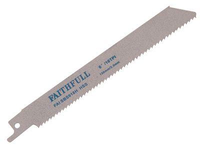Faithfull Sabre Saw Blade Metal S918H (Pack of 5)