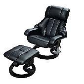 Homcom Recliner Massage Chair W/ Ottoman Foot Stool
