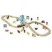 Carousel Multi Track Wooden Train Set