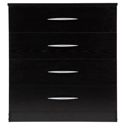 Ashton Black Chest of Drawers, 4 Drawer