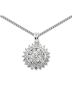 Jewelco London Sterling Silver Circular Pendant