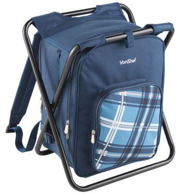 VonShef Rucksack Backpack 2 in 1 Stool Bag Outdoors