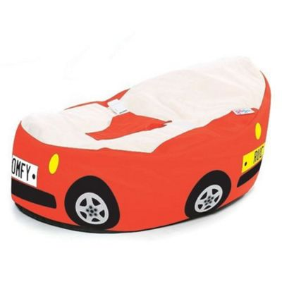 Gaga Luxury Cuddlesoft Baby Bean Bag - Red Racing Car