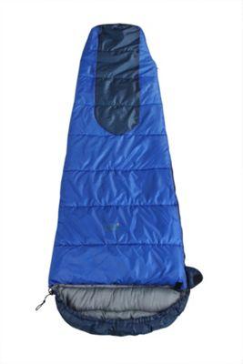 North Gear Camping Loche Mummy Sleeping Bag Blue 250 Gsm