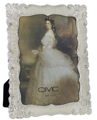 Silver and Cream Classic Stately Floral Photo Frame 5 x 7