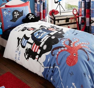 Catherine Lansfield Pirate Ship Single Duvet Set