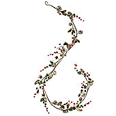 Snowy Red Berry Christmas Garland