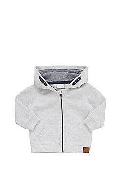 F&F Pique Zip-Through Hoodie - Grey