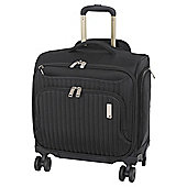 IT Luggage Underseat 4 Wheel Black Cabin Bag