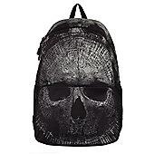 Banned Skull Pattern Black Backpack