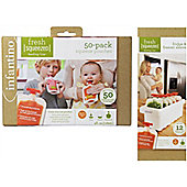 Infantino Bundle - Fridge And Freezer Sleeve And 50 Pouch Refill Pack - 2 Items Supplied