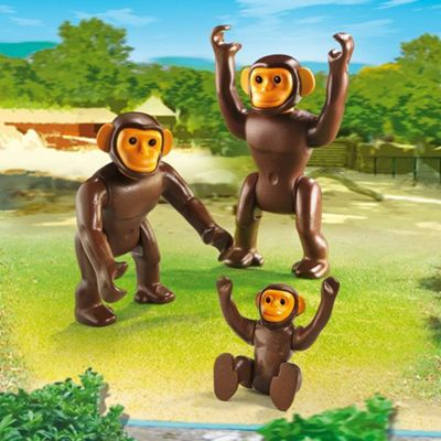 Playmobil City Life Zoo Chimpanzee Family