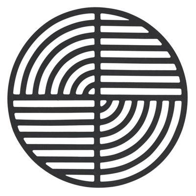 Zone Silicone Trivet, Black Circle