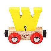 Bigjigs Rail Rail Name Letter W (Yellow)