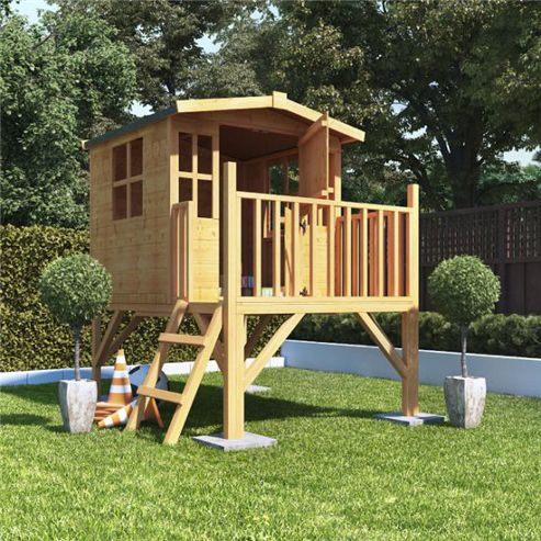 Mad Dash Bunny Tower Wooden Playhouse, 6ft x 5ft