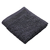 Homescapes Charcoal Supreme Luxury Face Cloth 700 GSM Egyptian Cotton, 30 x 30 cm