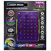 Laser Pegs 3D Liteboard Light It Up Storage Bin Display Board Sound Activated 5
