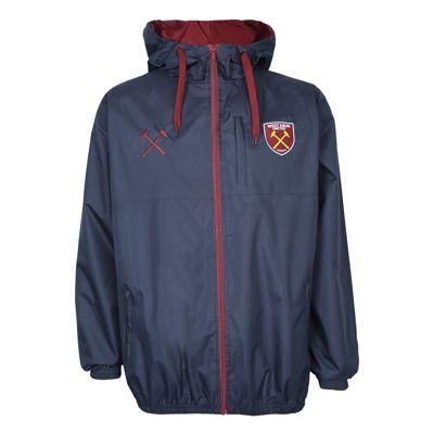 West Ham United FC Mens Shower Jacket Navy Small