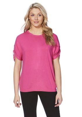 F&F Drawstring Sleeve Jumper Pink 12