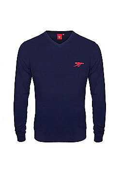 Arsenal FC Mens Knitted Jumper - Navy