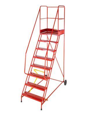 Heavy Duty 14 Tread Steel Warehouse Mobile Step (Anti-Slip Tread)